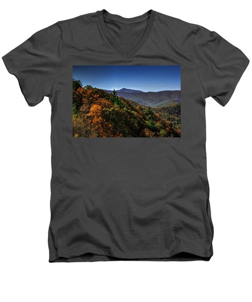 The Mountains Win Again Men's V-Neck T-Shirt