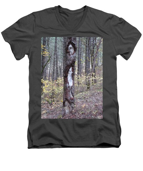 Men's V-Neck T-Shirt featuring the photograph The Mouse Ran Up The  by Marie Neder