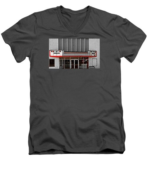 The Movie Theater Men's V-Neck T-Shirt by Bob Pardue