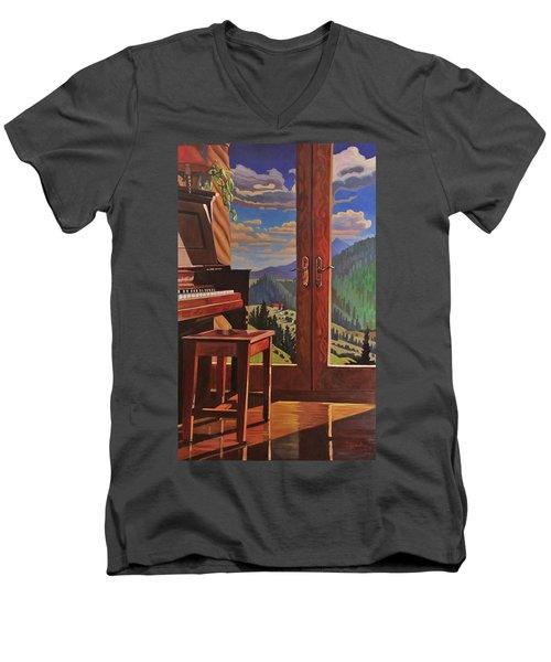 The Music Room Men's V-Neck T-Shirt by Art West