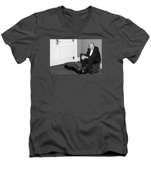 The Musician Men's V-Neck T-Shirt by Bob Pardue
