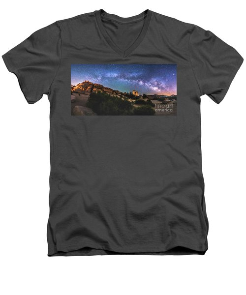 The Mystic Valley Men's V-Neck T-Shirt by Robert Loe