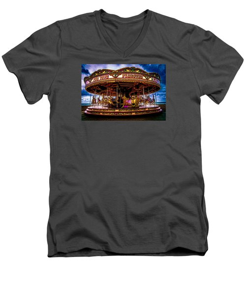 Men's V-Neck T-Shirt featuring the photograph The Mystical Dragon Chariot by Chris Lord