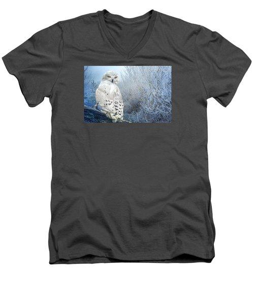 The Mystical Snowy Owl Men's V-Neck T-Shirt