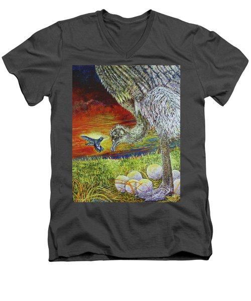 The Nanny Men's V-Neck T-Shirt by David Joyner