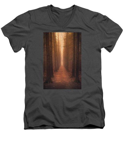 The Narrow Path Men's V-Neck T-Shirt by Rob Blair