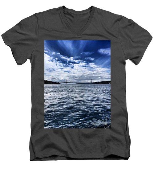 The Narrows Bridge  1 Men's V-Neck T-Shirt