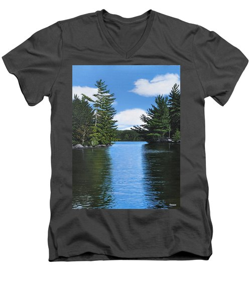 The Narrows Of Muskoka Men's V-Neck T-Shirt