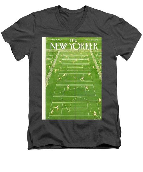 The New Yorker Cover - June 25th, 1960 Men's V-Neck T-Shirt