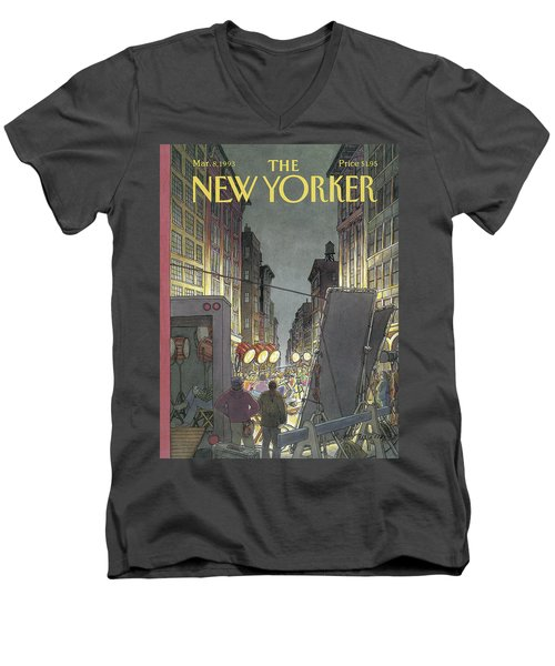 The New Yorker Cover - March 8th, 1993 Men's V-Neck T-Shirt