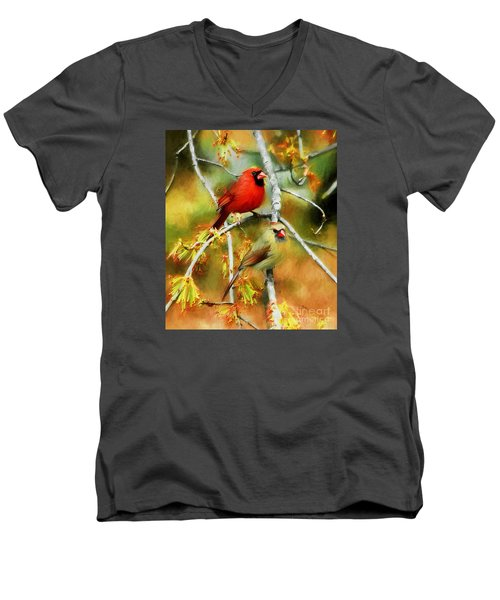 The Newlyweds Men's V-Neck T-Shirt by Tina  LeCour