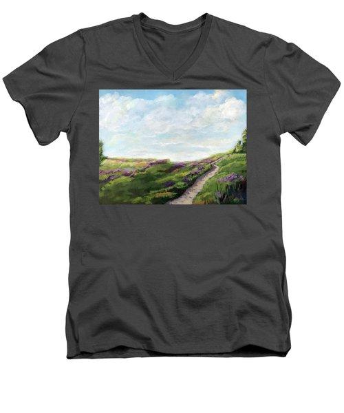 The Next Adventure - Landscape Painting Men's V-Neck T-Shirt
