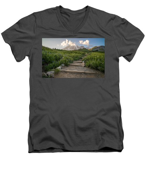 Men's V-Neck T-Shirt featuring the photograph The Next Step by Kristopher Schoenleber
