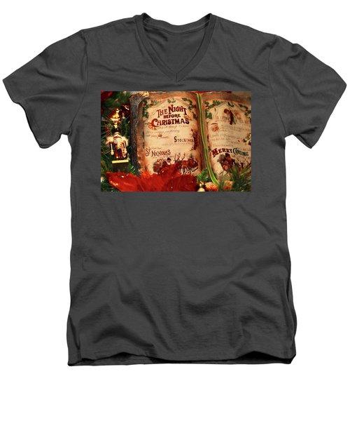 The Night Before Christmas Men's V-Neck T-Shirt