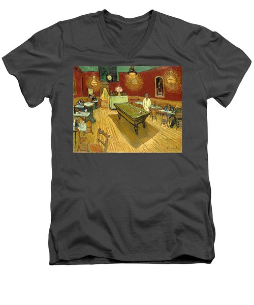 The Night Cafe Auto Contrasted Men's V-Neck T-Shirt