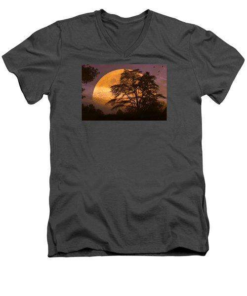 The Night Is Calling Men's V-Neck T-Shirt by John Rivera
