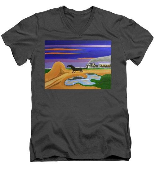 The Night Race Men's V-Neck T-Shirt