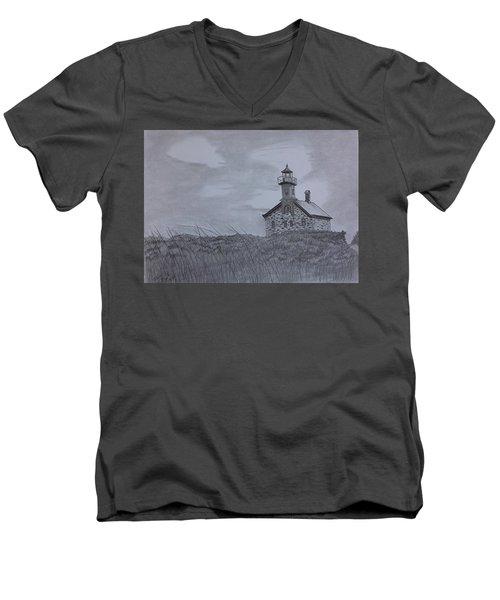 The North  Light  Men's V-Neck T-Shirt by Tony Clark