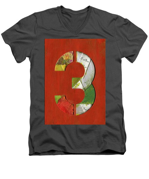 The Number 3 Men's V-Neck T-Shirt