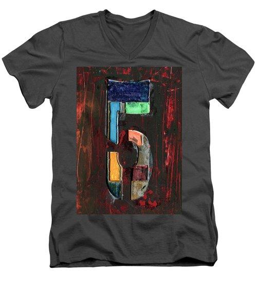 The Number 5 Men's V-Neck T-Shirt