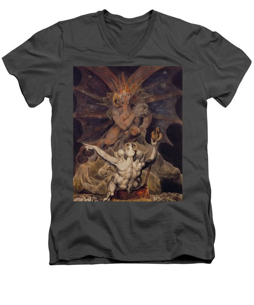 The Number Of The Beast Is 666 Men's V-Neck T-Shirt