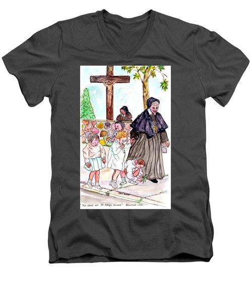 The Nuns Of St Marys Men's V-Neck T-Shirt by Philip Bracco