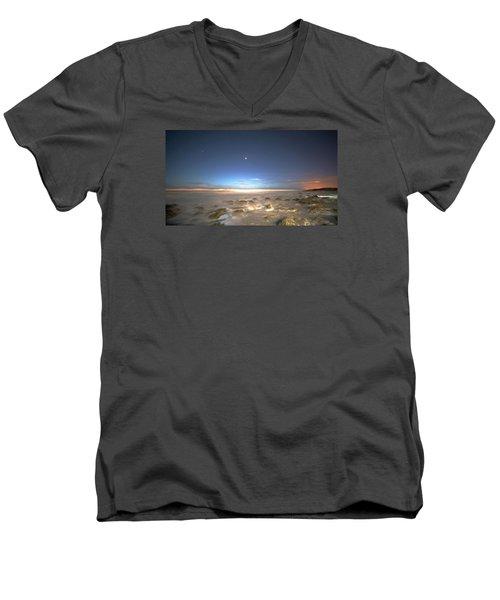 The Ocean Desert Men's V-Neck T-Shirt by Robert Och