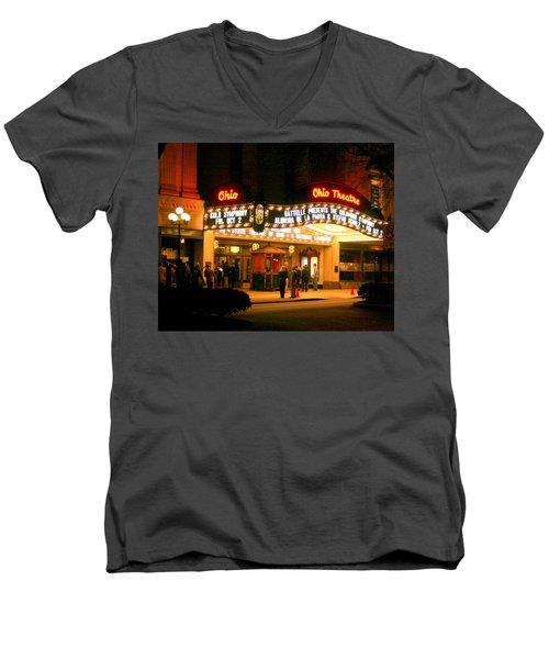 The Ohio Theater At Night Men's V-Neck T-Shirt
