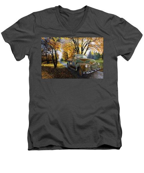 The Ol' Pumpkin Hauler Men's V-Neck T-Shirt