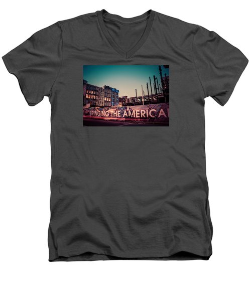 Men's V-Neck T-Shirt featuring the photograph The Old And The New by Mark Dodd