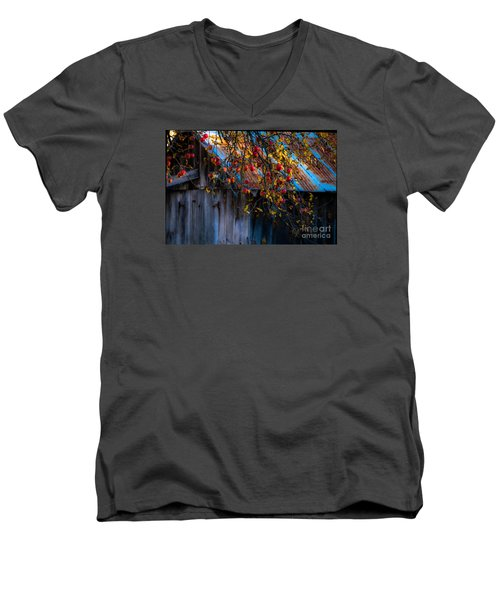The Old Barn Men's V-Neck T-Shirt by Sherman Perry
