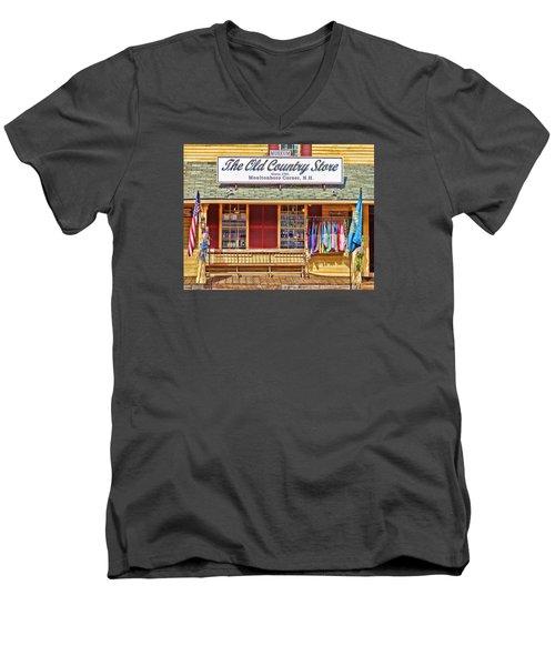 The Old Country Store, Moultonborough Men's V-Neck T-Shirt by Nancy De Flon