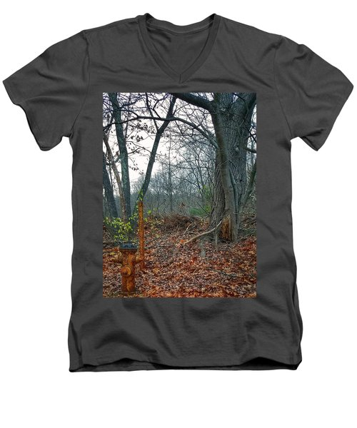 The Old Fire Hydrant Men's V-Neck T-Shirt