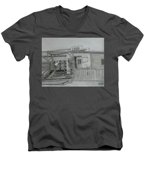 The Old  Jail  Men's V-Neck T-Shirt