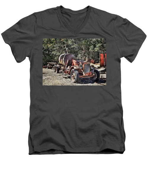 The Old Jalopy In Wine Country, California  Men's V-Neck T-Shirt