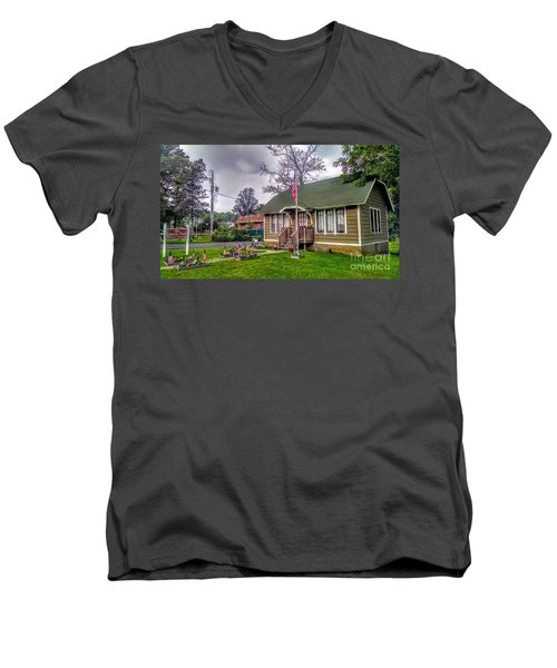 The Old Library At Beavertown Men's V-Neck T-Shirt