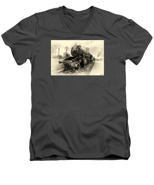 The Old Locomotive Men's V-Neck T-Shirt