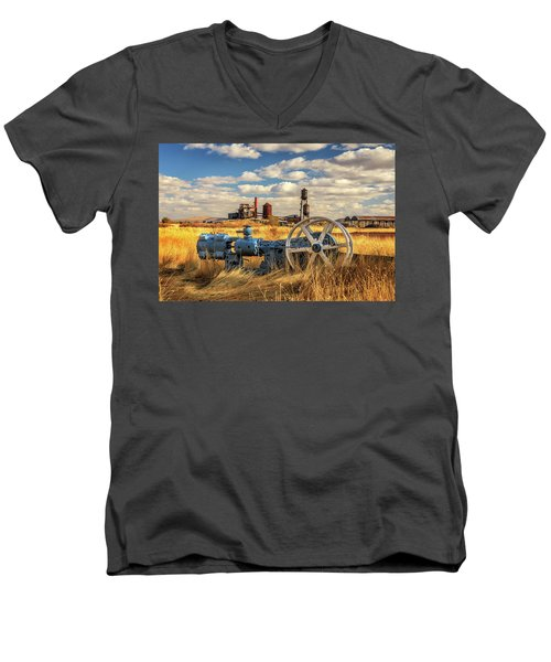 The Old Lumber Mill Men's V-Neck T-Shirt by James Eddy