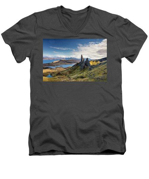 The Old Man Of Storr Men's V-Neck T-Shirt
