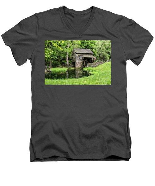 The Old Mill Men's V-Neck T-Shirt by Nicki McManus