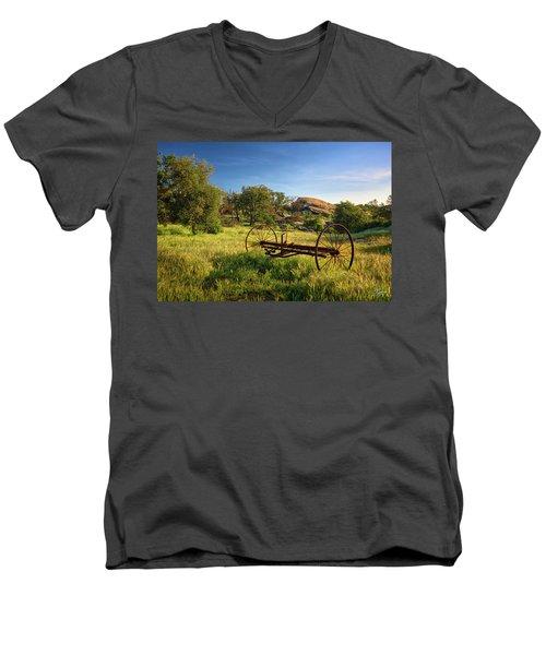 The Old Mower 1 Men's V-Neck T-Shirt
