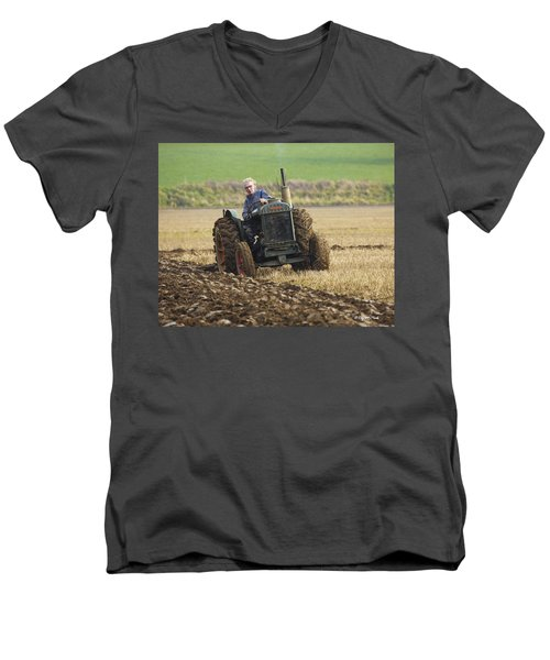 The Old Ploughman Men's V-Neck T-Shirt by Roy McPeak