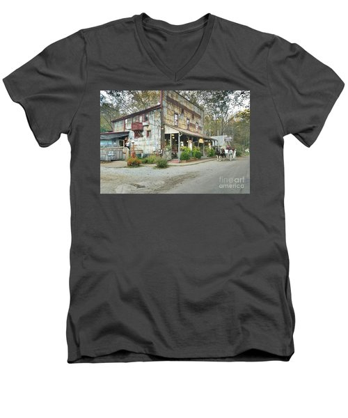 The Old Story Inn 1851 Nashville Indiana - Original Men's V-Neck T-Shirt by Scott D Van Osdol