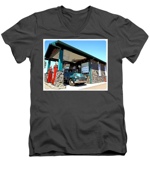 The Old Texaco Station Men's V-Neck T-Shirt