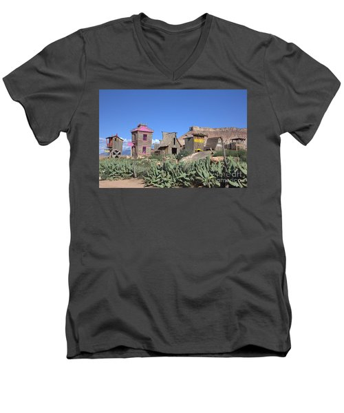 The Old Western Town  Men's V-Neck T-Shirt