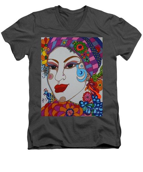 The Opera Singer Men's V-Neck T-Shirt