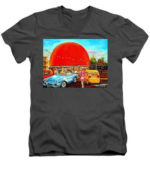 The Orange Julep Montreal Men's V-Neck T-Shirt
