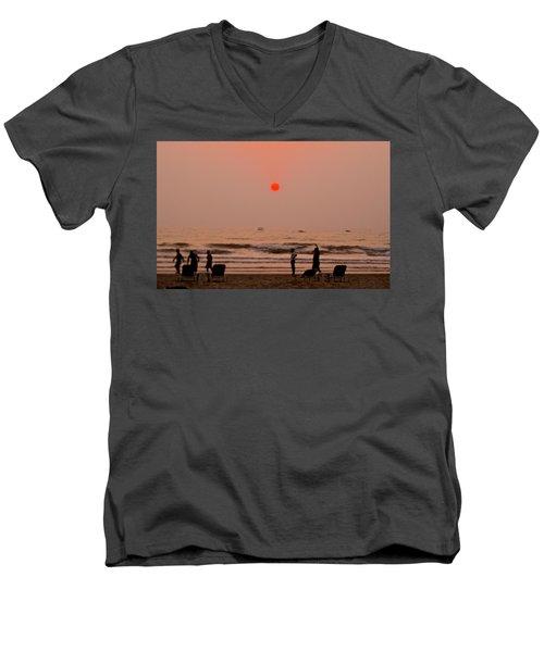 The Orange Moon Men's V-Neck T-Shirt