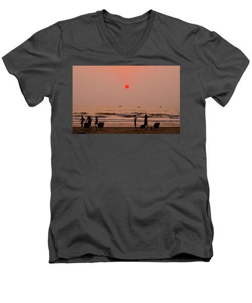 The Orange Moon Men's V-Neck T-Shirt
