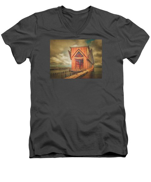 The Ore Is Gone Redux Men's V-Neck T-Shirt by MJ Olsen